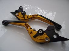 Moto Guzzi GRISO (06-15), CNC levers fold/extend gold/black adjusters, F16/DC80